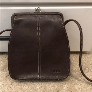 Tapered leather purse